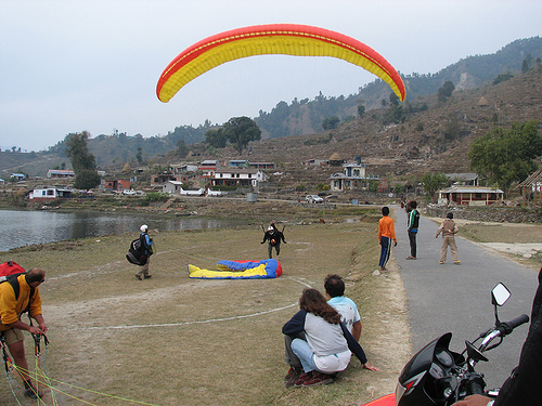 Paragliding in Nepal Photos