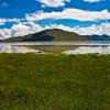 Pasture Along Yamdrok Lake - Tibet China
