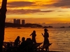 Pattaya Beach At Sunset