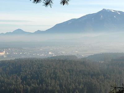 Petzen Mountain And Eberndorf In The Jaun Valley