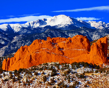 Pikes Peak From Garden Of The Gods - CO Colorado Springs