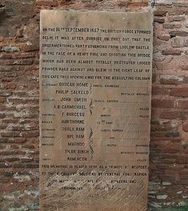 Plaque At Kashmiri Gate