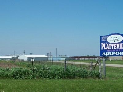 Platteville  Municipal  Airport Entrance