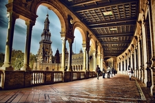 Plaza Espana In Seville - Ground View - Spain Andalusia