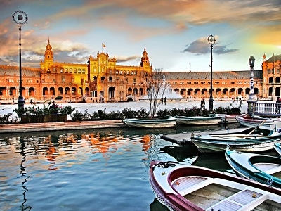 Plaza Espana In Seville - Spain Andalusia