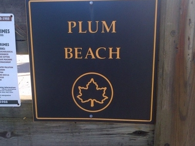 Plum Beach Sign