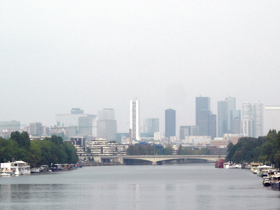 Seine River With The Skyscrapers Of La Defence