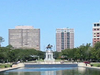 Pool And Sam Houston Statue In Hermann Park