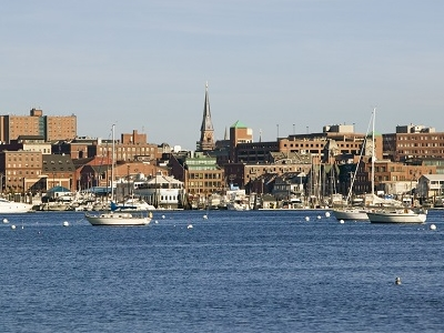Portland Harbor & South Portland Skyline ME
