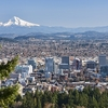 Portland With Mount Hood In Backdrop