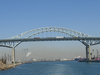 Port Of Long Beach With Gerald Desmond Bridge