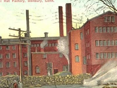 Postcard Danbury C T Natl Hat Factry 1 9 1 2