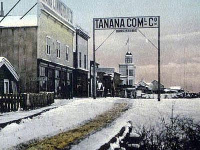 Postcard Front Street Tanana