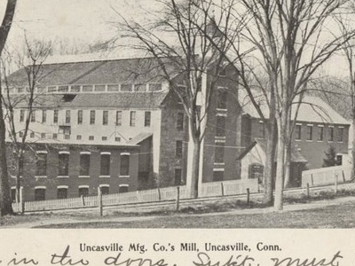 Postcard Uncasville C T Uncasville Mfg Co Mill 1 9 0 6