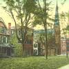 Postcard Wallingford Bank Church Opera House 1 9 1 2