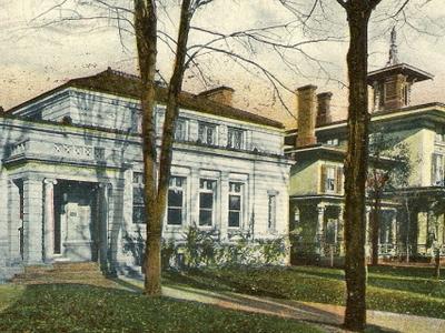 Postcard Wallingford C T Libry And Marlborough House 1 9 0 9
