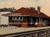 Postcard Winchester I N Big Four Railroad Depot Circa 1 9 1 9