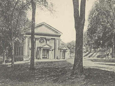 Postcard Woodbury C T Town Hall 1 9 0 7