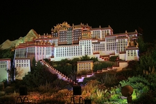 Potala Palace In Night Light