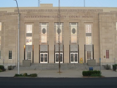 Pottawatomie County Courthouse In Shawnee Oklahoma
