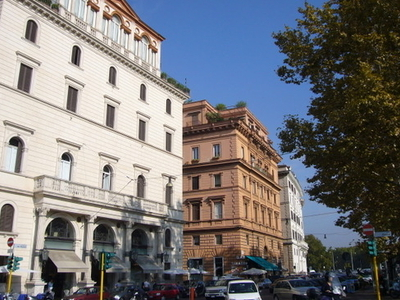 The Lungotevere And Palazzo Blumenstihl