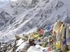 Prayer Flags At Larkya La - Nepal Himalayas