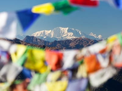 Prayer Flags At Mount Saipal - Nepal