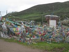 Prayer Flags Near Deqin In Tibet