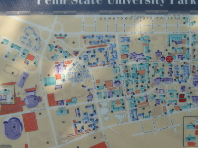 Map Of The Penn State University Park