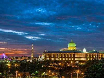 Putrajaya Cityscape At Sunset