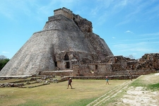 Pyramid Of The Magician At Uxmal - Mexico