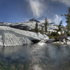 Pyramid Peak Dominates A Glacier Scoured Basin