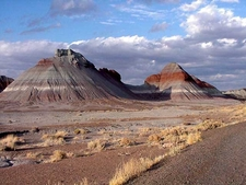 Painted Desert View In Petrified Forest National Park.
