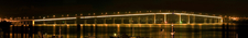 Panorama Of The Tasman Bridge At Night
