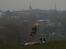 Kite Flyer On Parliament Hill