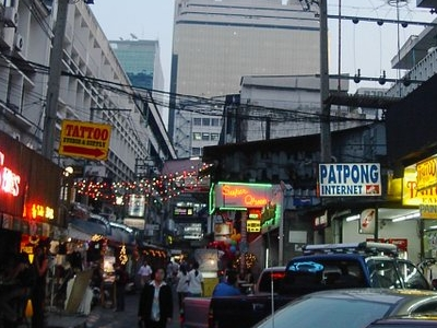 A View Of Patpong At Sunset
