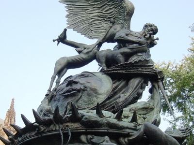 Peace Fountain Closeup