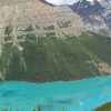 Peyto Lake Seen From Bow Summit