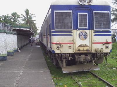 A PNR Train In Ligao Railway Station