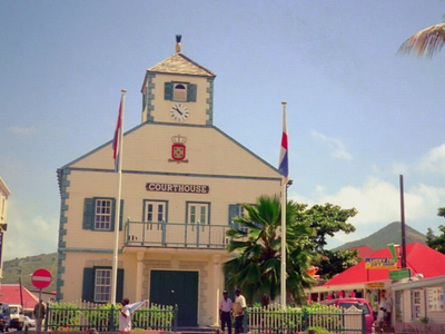 The Courthouse In Philipsburg Is One Of The Symbols Of Sint Maar