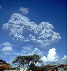 The Eruption Column Of Mount Pinatubo