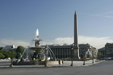 The Two Fontaines De La Concorde With The Maritime Navigation