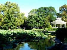 Pond And Gazebo In Goodale Park