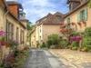 Quiet Street In Hautefort - Dordogne France