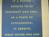 Quotation  In  Jefferson  Memorial