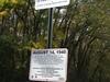 Radford High Water Mark Sign