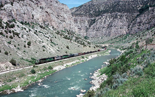 Railroad Through Wind River Canyon