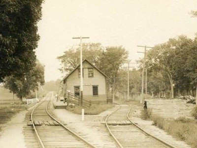 Railroad  Station East  Wilton