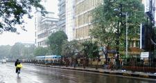 Rain Drenched Kolkata Street