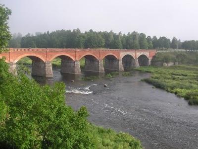 Red-brick Bridge And The Venta River
